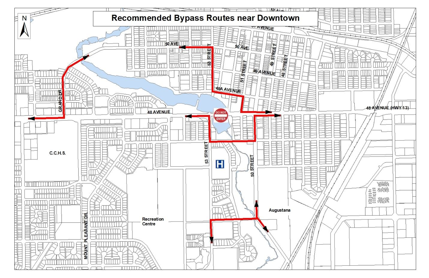Recommended Bypass Routes near Downtown