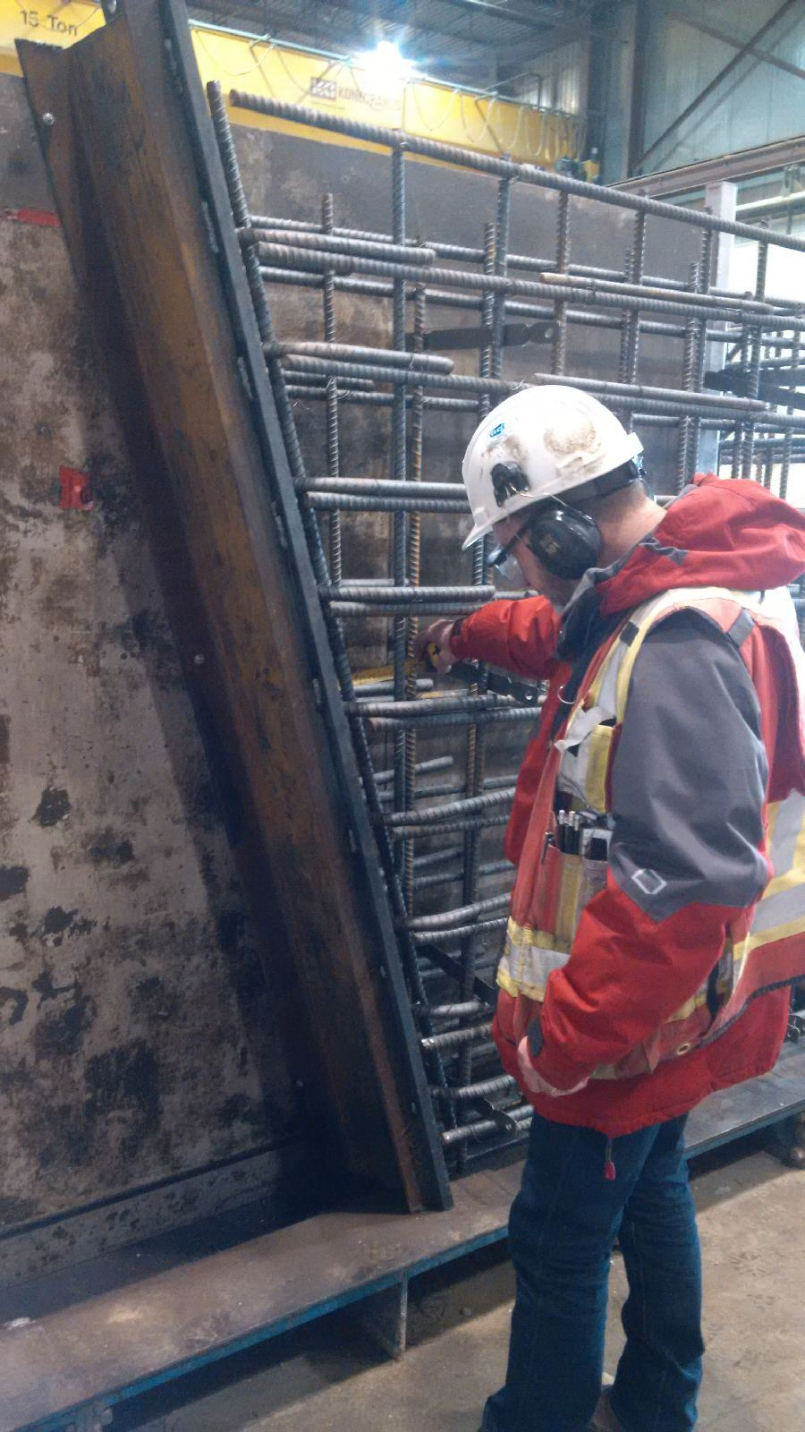 measuring thickness of rebar