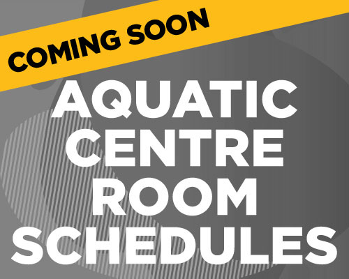 Aquatic Centre Room Schedules